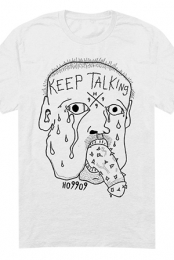 Keep Talking Tee (White)