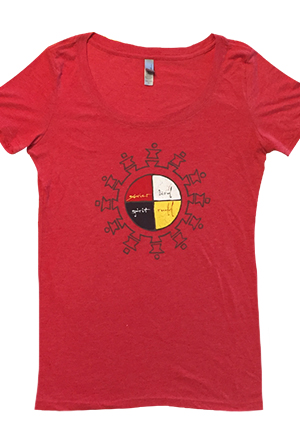 Bird Spirit Girls Tee (Red)