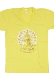 13 Tales Zia V-Neck Tee (Yellow)