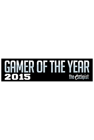 Gamer of the Year 2015 Bumper Sticker (Black)
