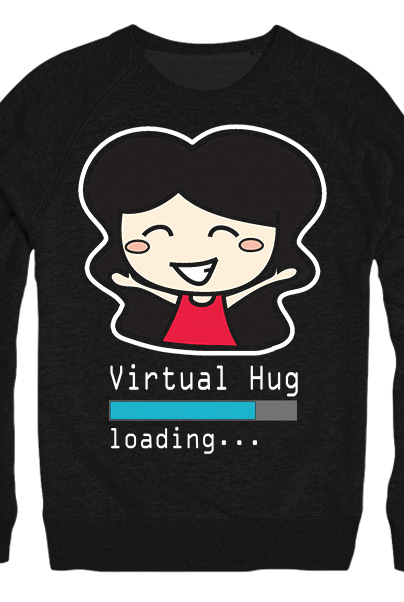 Virtual Hug Crewneck Sweater
