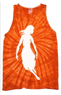 Collide Girl Tie Dye Tank (Spider Orange)