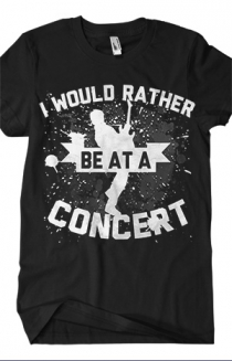Rather Be At A Concert Tee (Black)