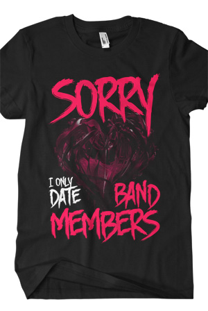 I Only Date Band Members Tee (Black)