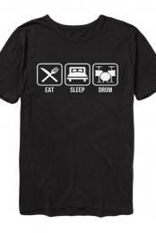 Eat Sleep Drum Tee (Black)