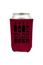 Will Play For Beer Can Cooler