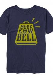 More Cowbell Tee (Navy)