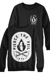 Fire Badge Crewneck Sweatshirt (Black)