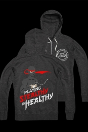 Stealthy is Healthy Zip Up (Heather Charcoal)