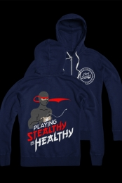 Stealthy is Healthy Zip Up (Navy)