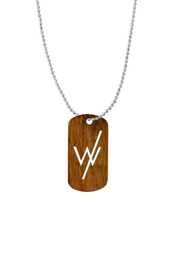 Wooden Dog Tag Necklace