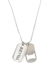 Dog Tag & Bottle Opener Necklace