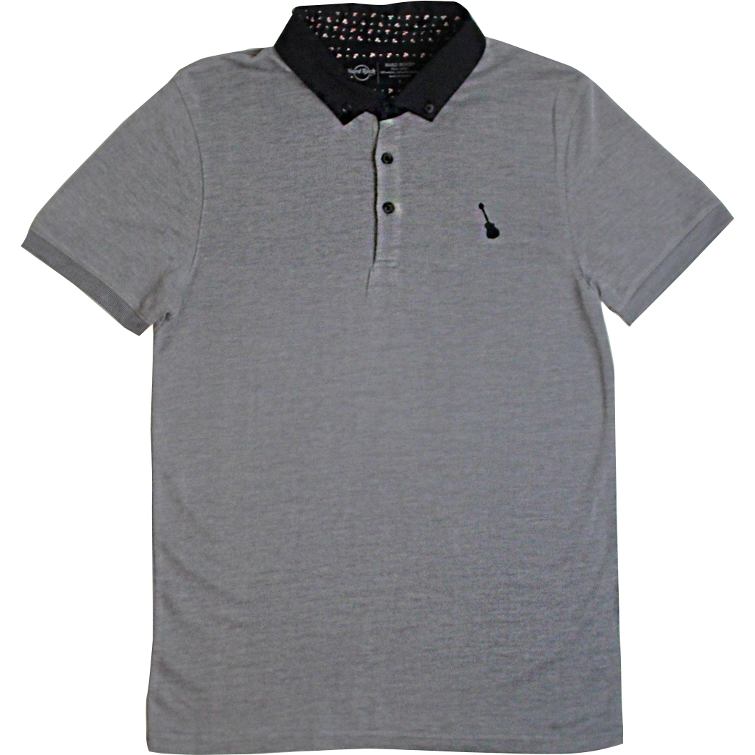 Mens Black Label Pique Jersey Polo Grey 0
