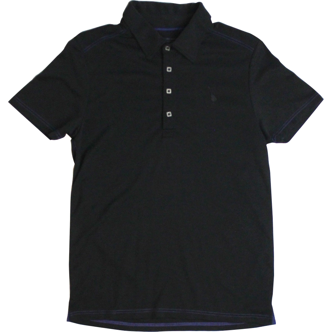 Mens Black Label Slub Jersey Polo Black 0