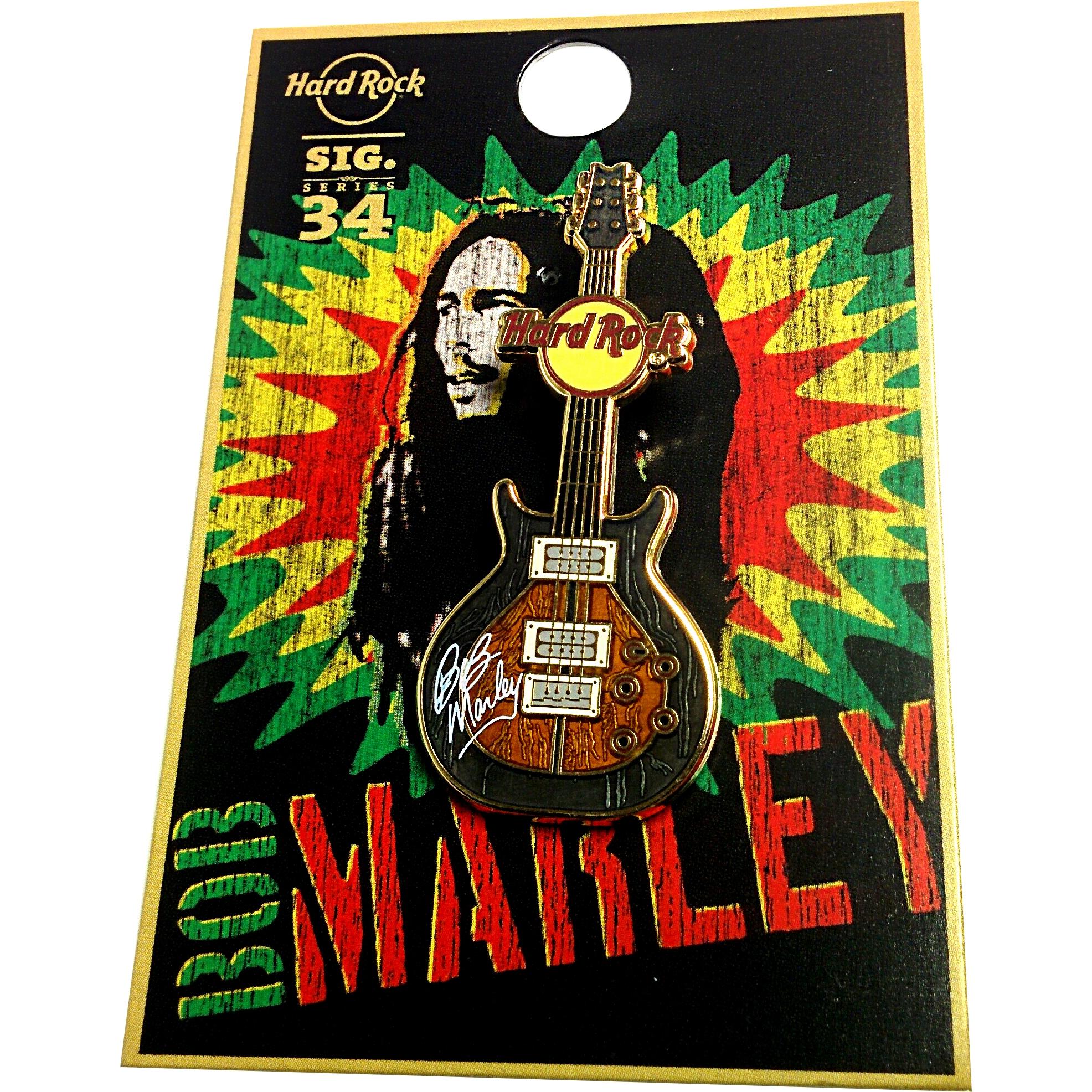 Bob Marley Signature Series 34 Pin Zoomed