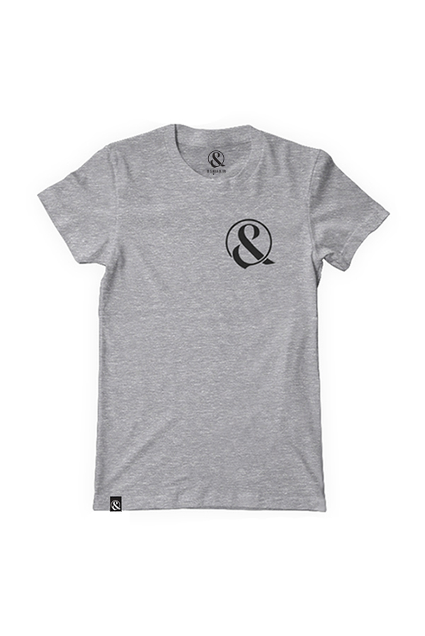 Ampersand Girly Tee (Grey) 0