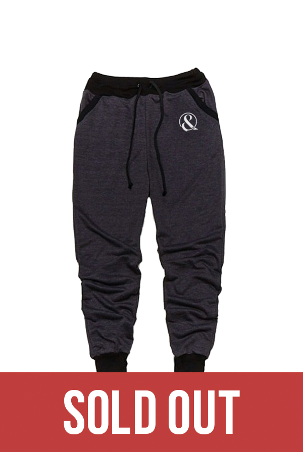 Ampersand Joggers (Charcoal/Black)