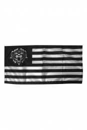 Lion Black Mini Flag