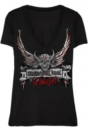Hellelujah Girls V-Neck (Black)