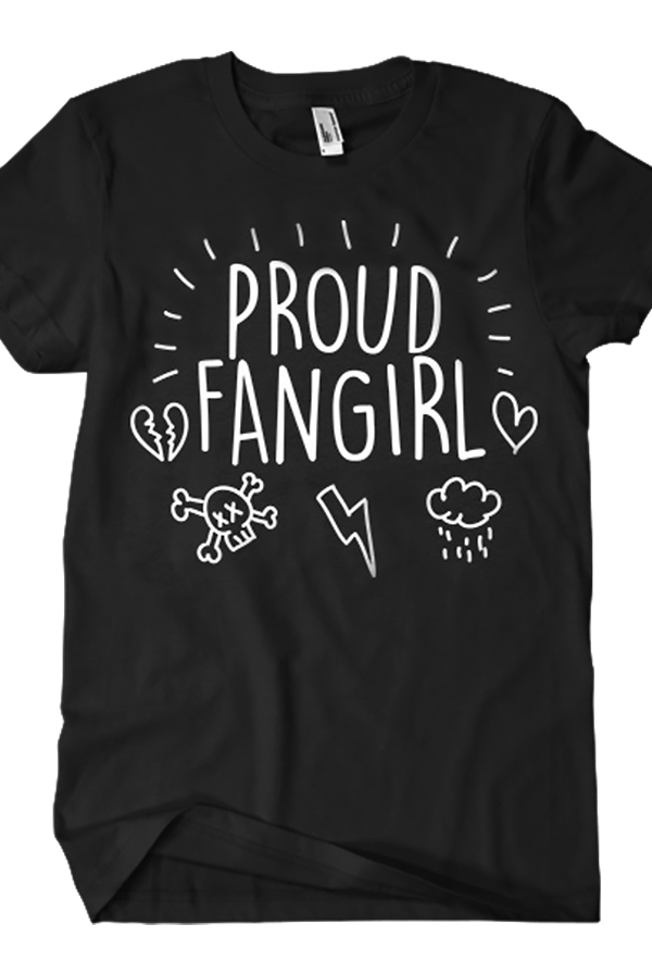 Proud Fangirl Tee (Black)