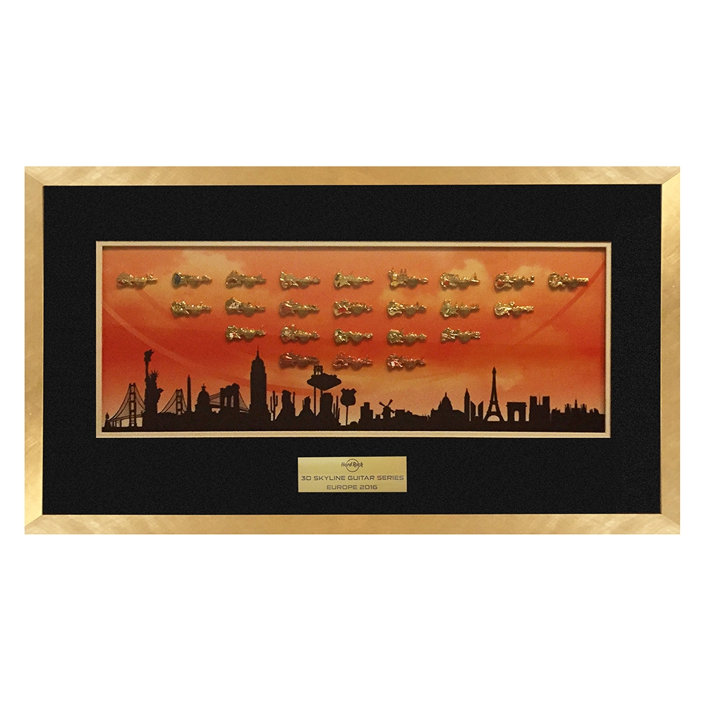 Europe Skyline Series Framed Set 0