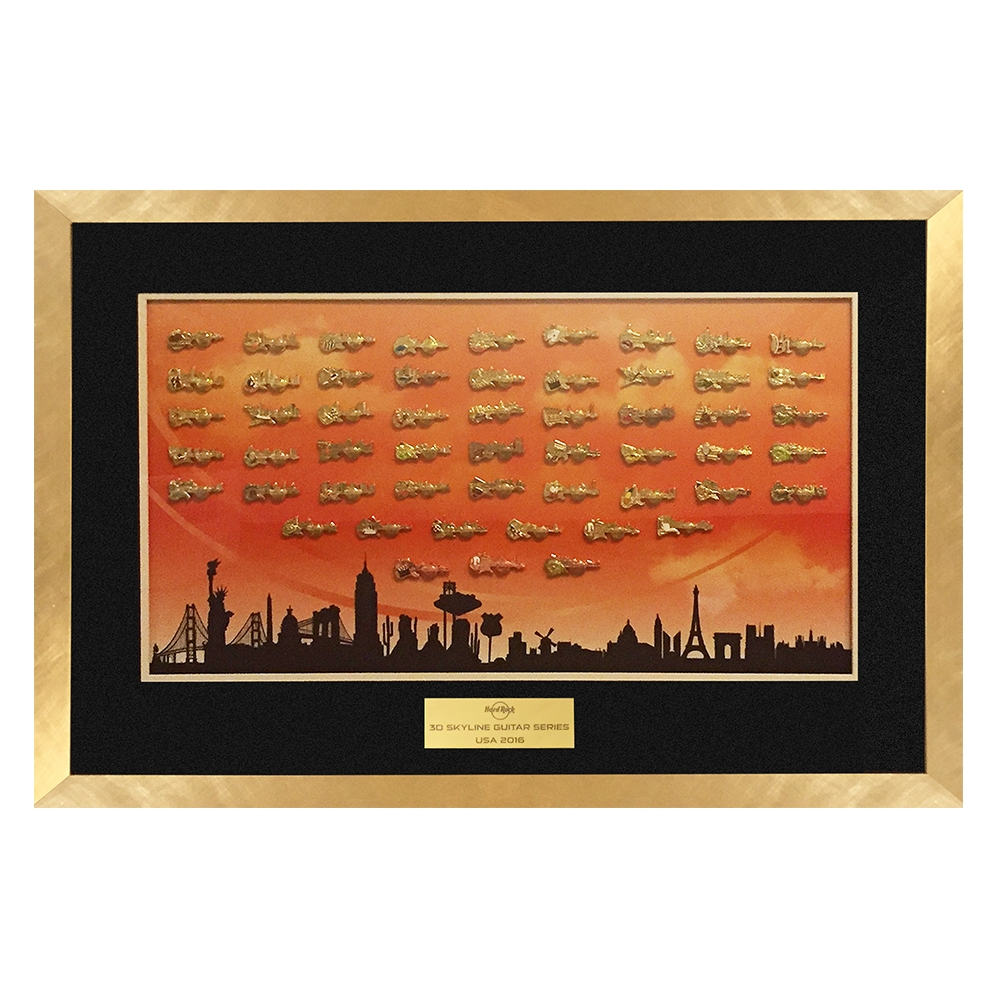 USA Skyline Series Framed Set 0