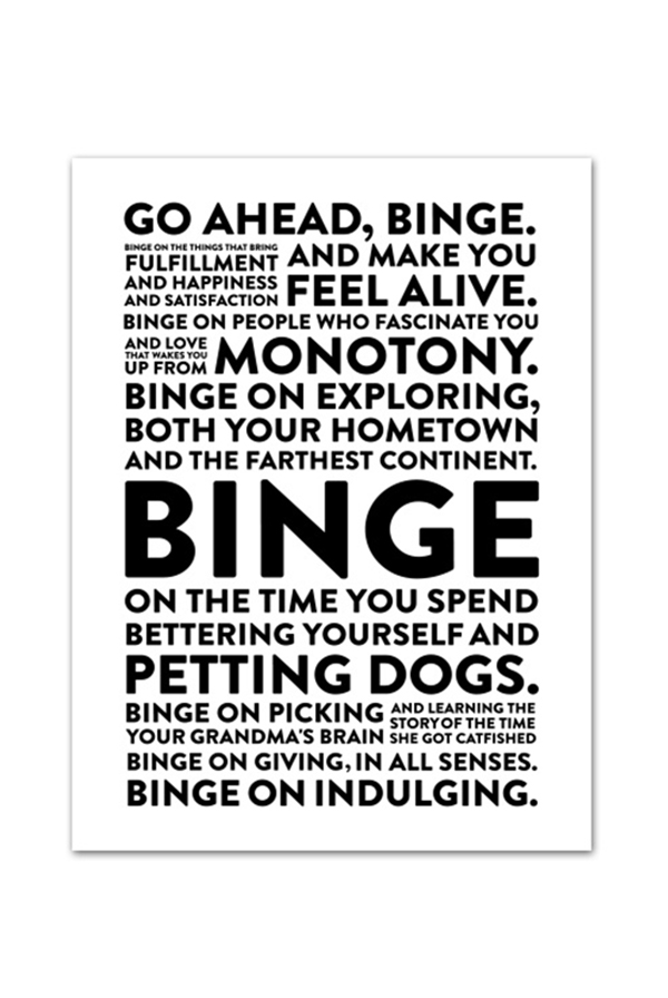Signed binge poster 18x24 poster tyler oakley posters official online store on district lines