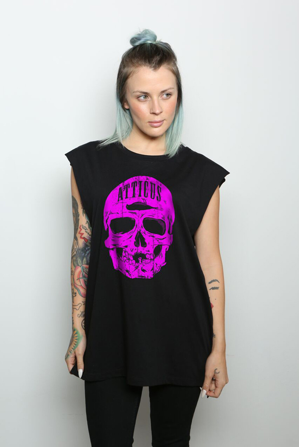 Skull Sleeveless T-Shirt (Black) 0