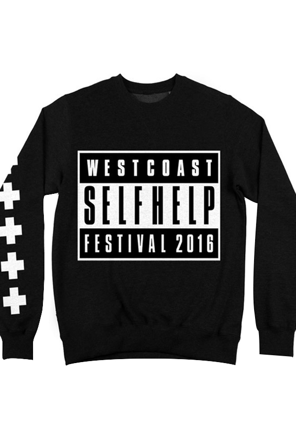 Parental Advisory Sweatshirt Black Self Help Festival Official Online Store On District Linesdistrict Lines
