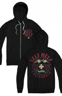 Self Help Zip Up Hoodie (Black)