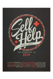 Self Help 2014 18x24 Screen Printed Poster
