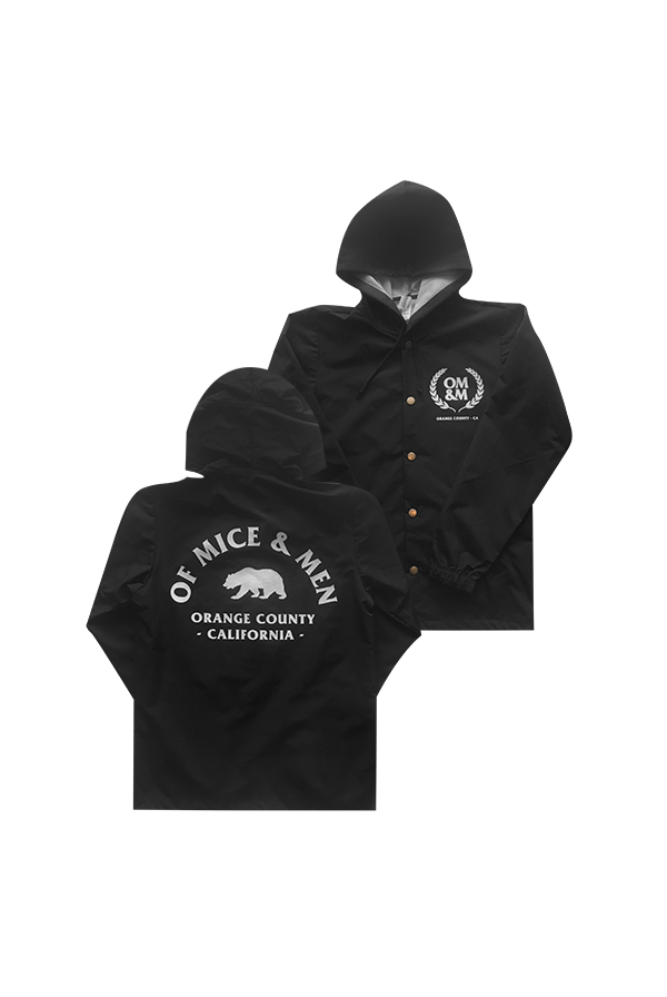 Cali Bear Windbreaker (Black)