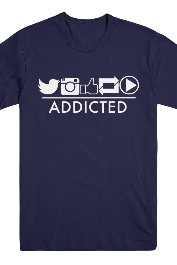 Addicted Tee (Navy) 0