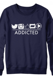 Addicted Navy Sweater