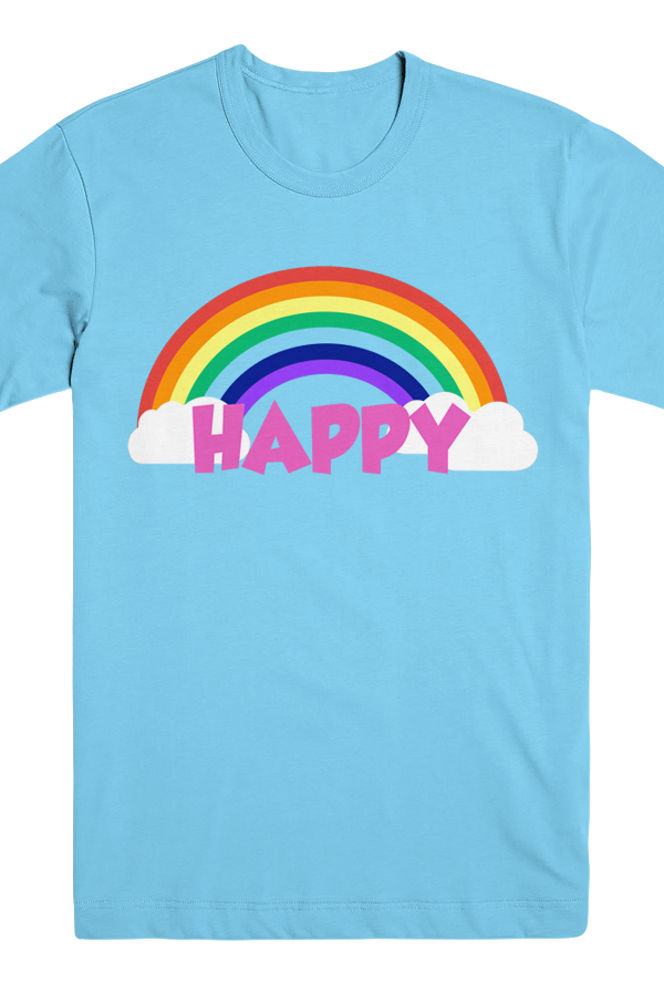HAPPY Tee (Baby Blue) 0