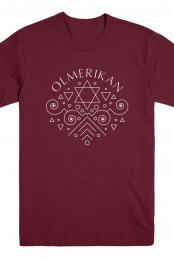 Star Of David Tee (Maroon)