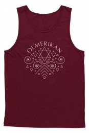 Star Of David Tank (Maroon)