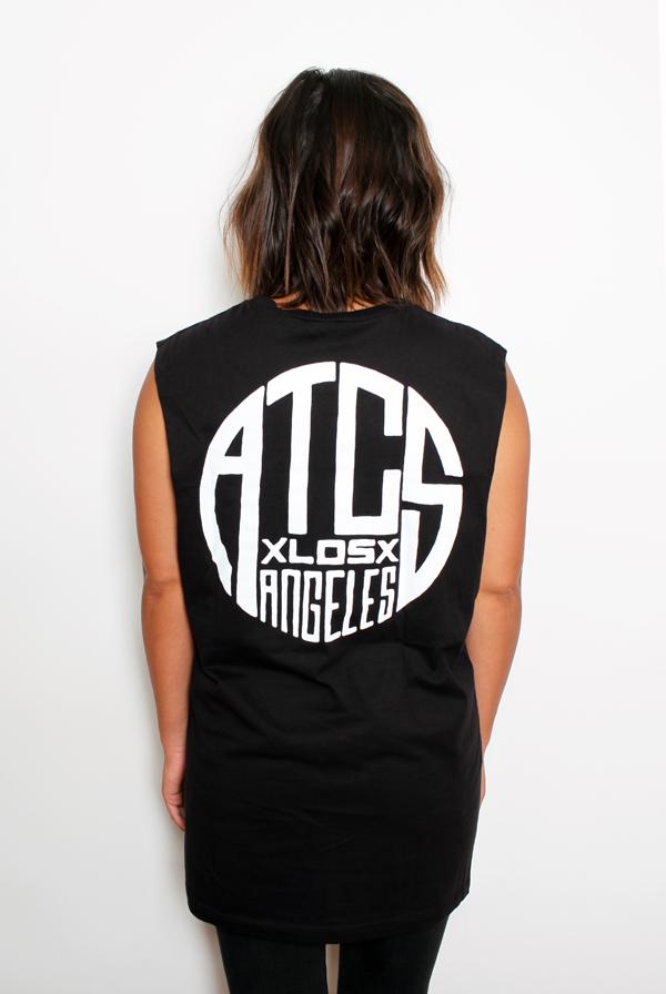 Circle Sleeveless T-Shirt (Black) 1