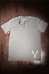 Short Sleeve Henley (Grey Tri-Blend) - Deep V Apparel