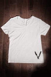Short Sleeve Henley (White Fleck Tri-Blend)