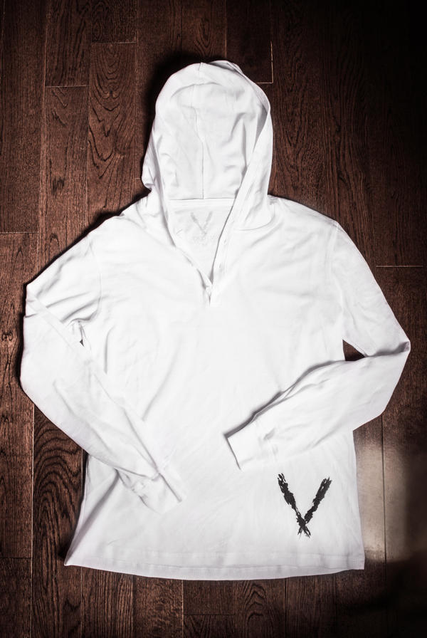 Henley Hoodie (White)