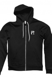 Icon Zip Up Hoodie (Black)