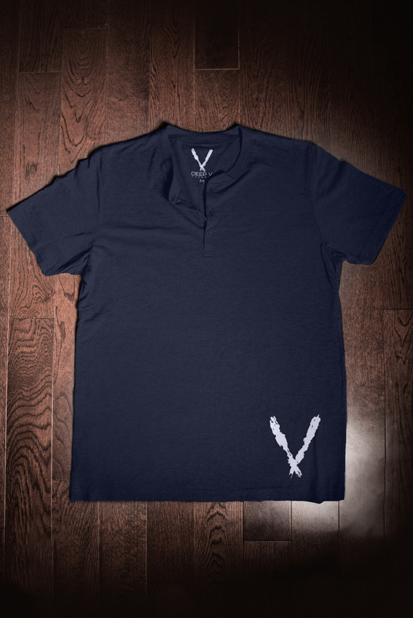 Short Sleeve Henley (Navy Tri-Blend)
