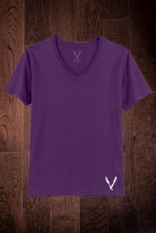Deep V-Neck Tee (Purple)