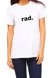 Rad Tee (White) - Carrie Rad