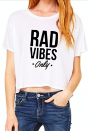 Rad Vibes Only Tee (White)