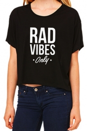 Rad Vibes Only Tee (Black)