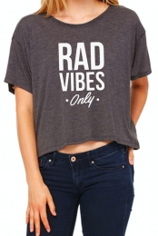 Rad Vibes Only Tee (Grey)