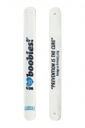 I Love Boobies Slap Bracelet (White)