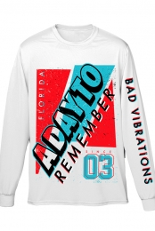 Athletic Long Sleeve Tee (White)